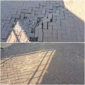 Before and after pictures showing the work done by eThekwini Municipality
