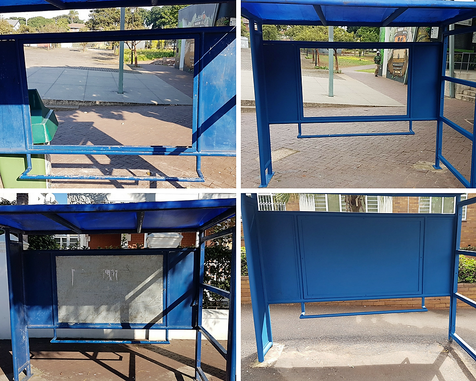 Florida Rd Bus Shelter Repainted