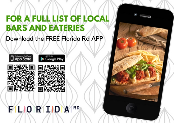 Image of APP QR codes to list of all restaurants in Florida Rd