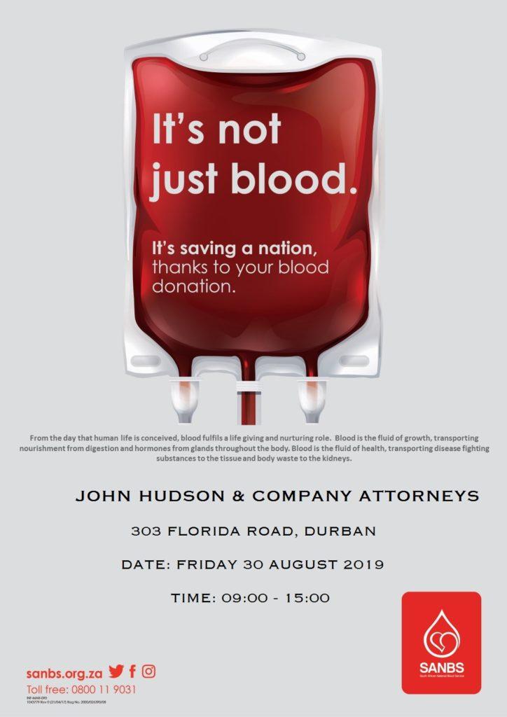John Hudson And Company Blood Drive